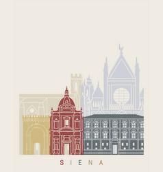 Siena skyline poster vector