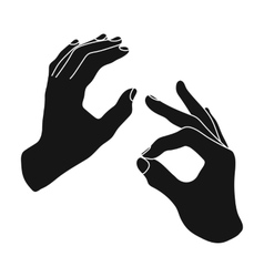 Sign language icon in black style isolated on vector image vector image