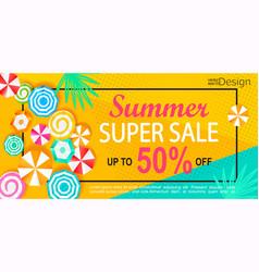 summer super sale banner vector image