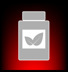 Supplements container sign postage stamp or old vector
