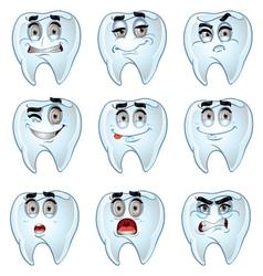Teeth smiles vector