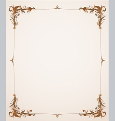 Vintage frame with foliage vector