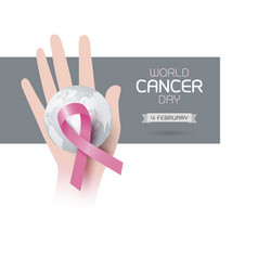 world cancer day design vector image vector image