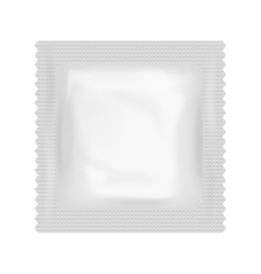 Realistic Condom Food Medicine Flow Pack Isolated vector image