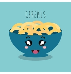 Cartoon cereal snack design isolated vector