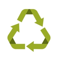 Green recycling symbol shape separated vector