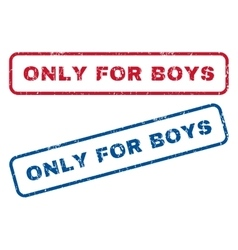 Only for boys rubber stamps vector