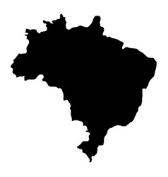 Brazil map isolated icon vector