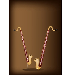 A musical bass clarinet on dark brown background vector