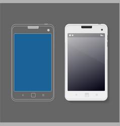 Phone ui web design template mock up vector