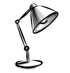 Adjustable table lamp isolated on white vector
