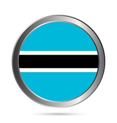 Botswana flag button vector