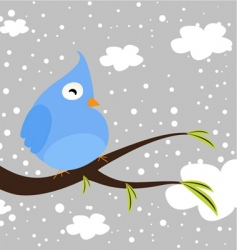 Winter bird vector