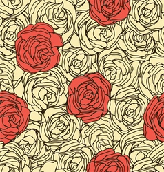 Seamless floral pattern in retro style vector