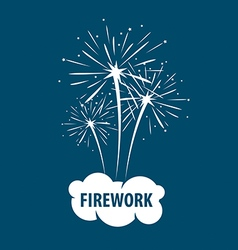 logo white cloud and firework vector image
