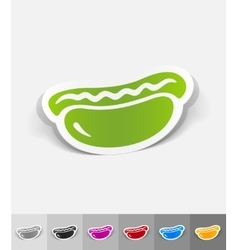 Realistic design element hot dog vector