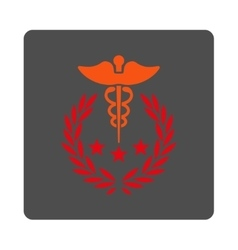 Caduceus logo rounded square button vector
