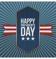Happy presidents day big realistic label vector