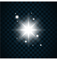 Shine star sparkle icon 2 vector