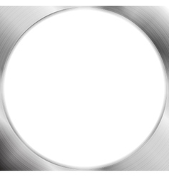 Abstract metallic silver blank circle frame vector