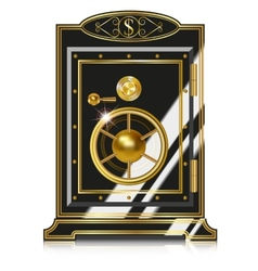antique safe vector image