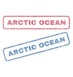 Arctic ocean textile stamps vector