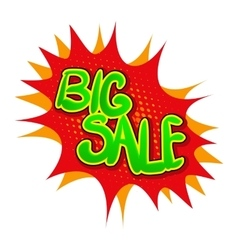 Big sale comics icon vector