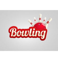 bowling realistic theme eps 10 vector image vector image