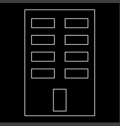 Building the white path icon vector