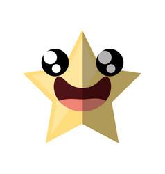Cartoon star ornament birthday shadow vector