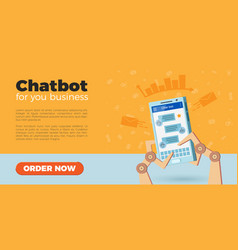 chatbot landing page vector image