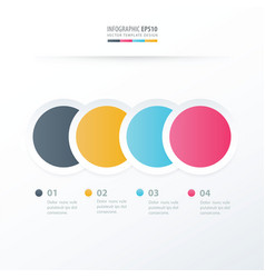 Circle overlap infographic blue pink yellow vector