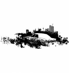 Cityscape grunge illustration vector