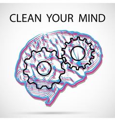 Clean your mind vector