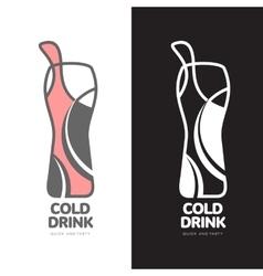 Coke in a bottle logo vector