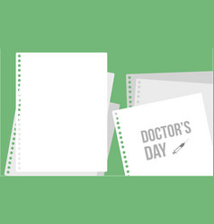 Doctor day greeting card style collection vector