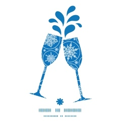 Falling snowflakes toasting wine glasses vector