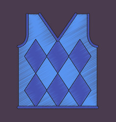 flat shading style icon golf vest vector image vector image