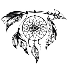 Hand drawn of dream catcher vector image vector image