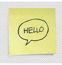hello in speech bubble vector image