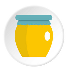 Honey liquid bank icon circle vector