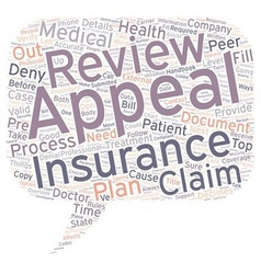 How to appeal when your medical insurance declines vector