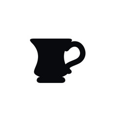 Isolated coffee icon porcelain element can vector