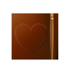 Isolated leather with heart design vector