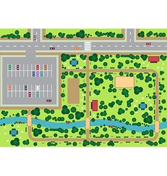 Park view from top vector