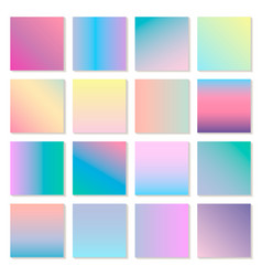 Set of holographic modern gradients vector