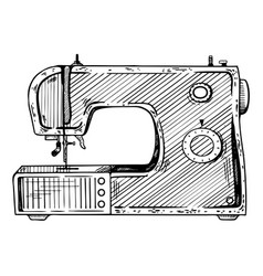 sewing machine engraving vector image