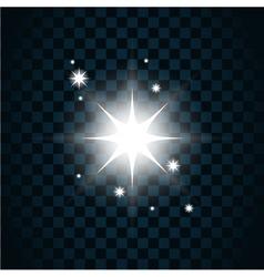 Shine star sparkle icon 2 vector