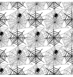 spiders and spider web silhouette spooky seamless vector image vector image