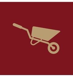 The wheelbarrow icon barrow symbol flat vector